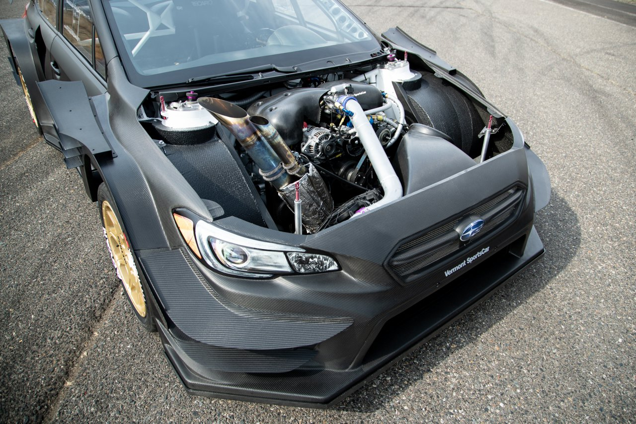 Custom-made Gymkhana Subaru Boxer engine in 2020 Subaru WRX STI.