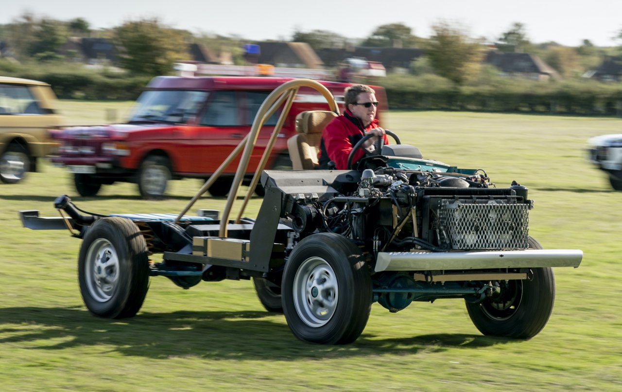 Land Rover 4x4 chassis demonstrator.