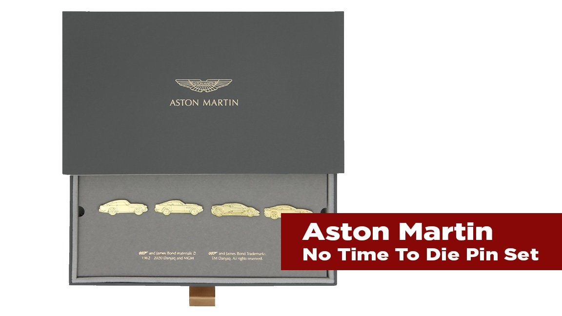 The Journal's holiday gift guide | Aston Martin No Time to Die Pin Set