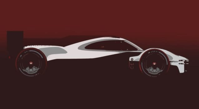 b Porsche Motorsport LMDh Teaser Side