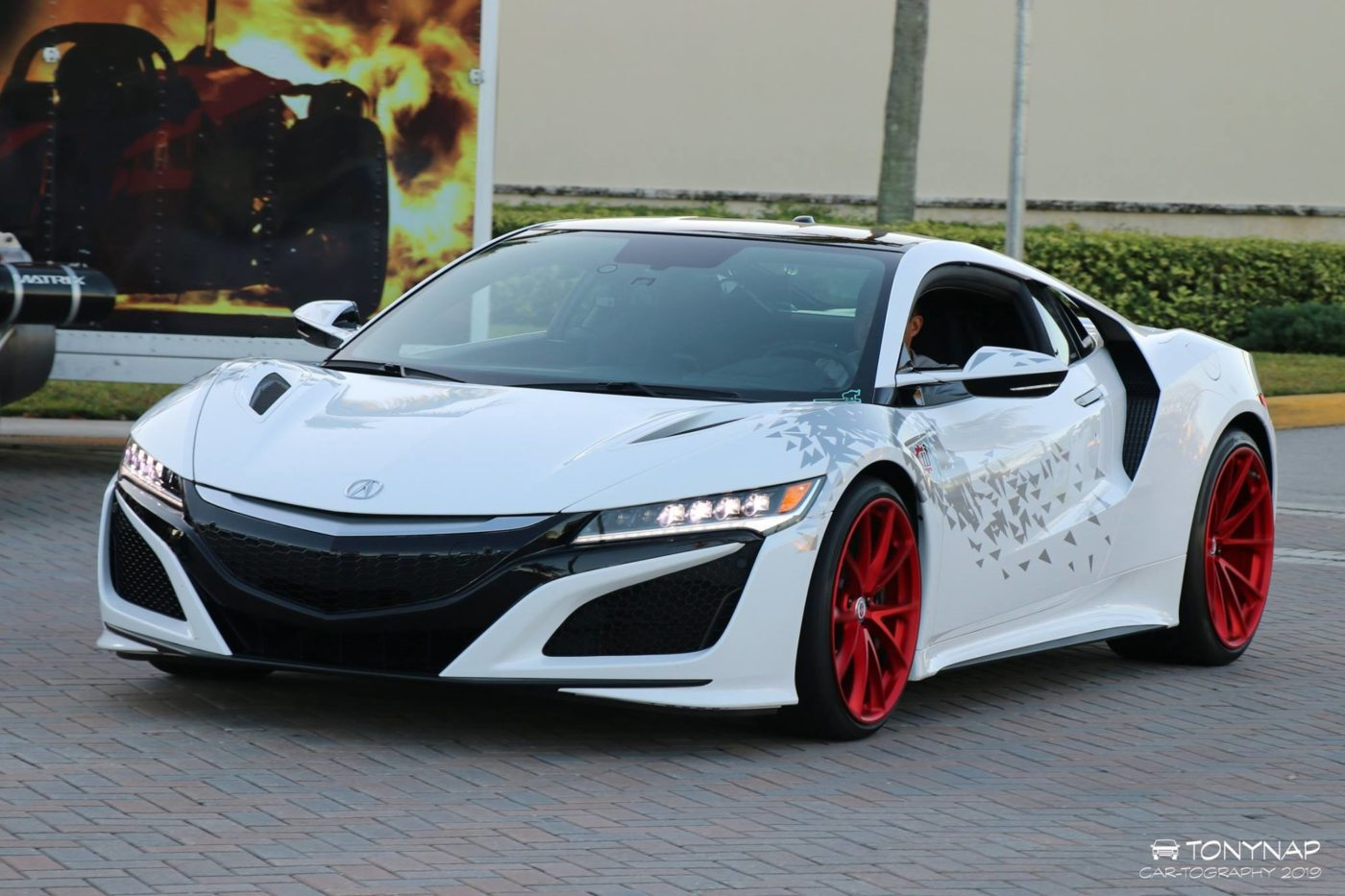 Every aerodynamic aspect of the Acura nsx is functional and visually appealing