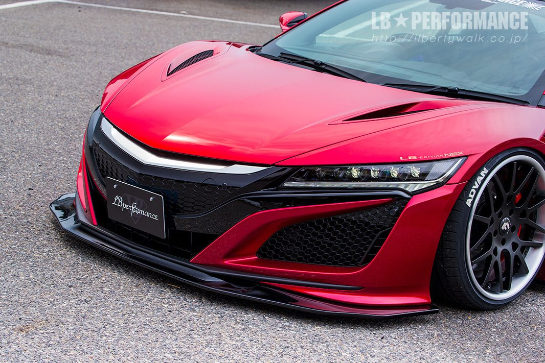 Aftermarket wheels and ground effects make the acura nsx popular to many