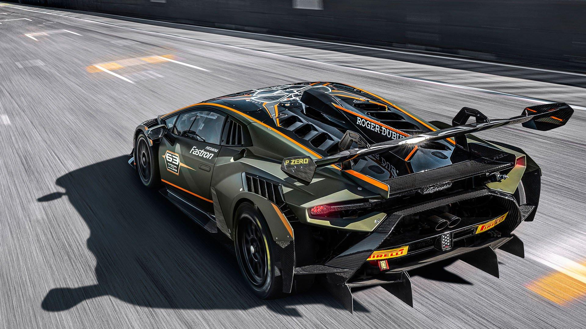 Rear view of the new Lamborghini Huracán Super Trofeo EVO2