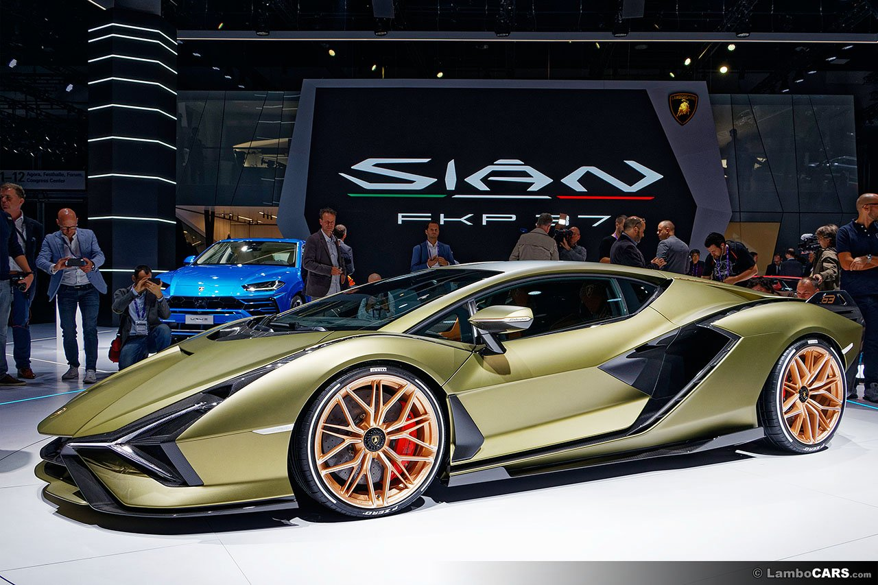 Lamborghini Sian at car show