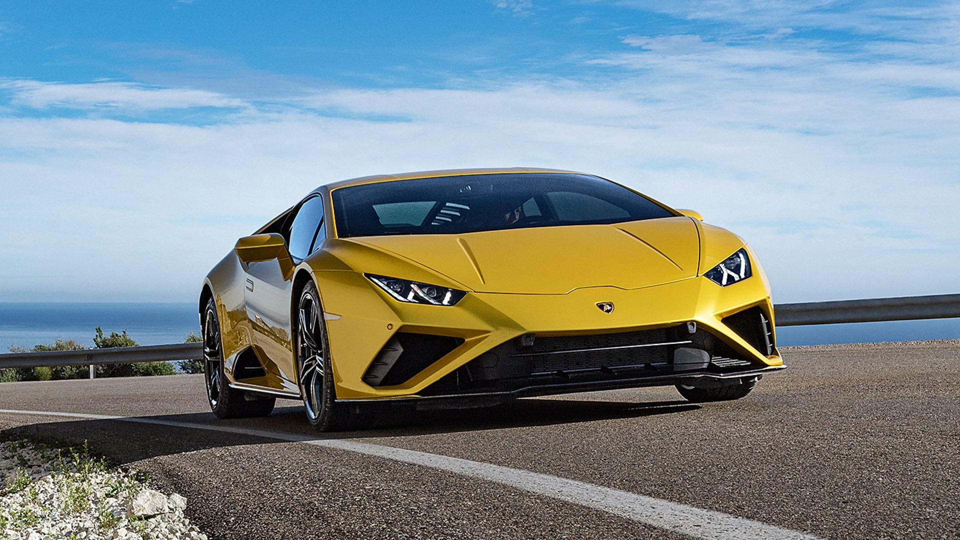 Front view of a Lamborghini Huracan Evo