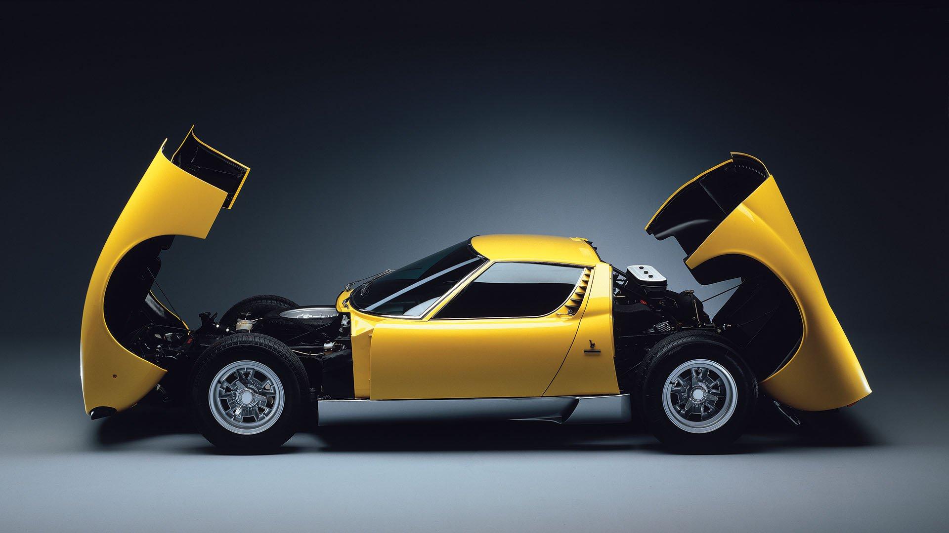 Yellow Lamborghini Miura