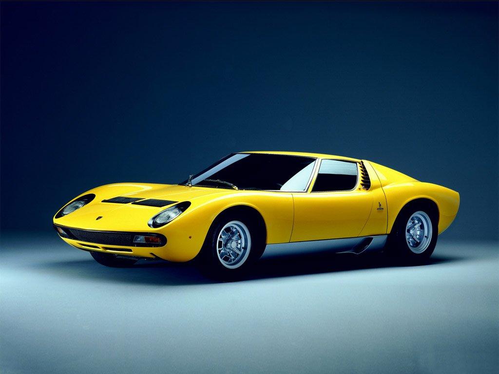 Yellow 1971 Lamborghini Miura P400 SV
