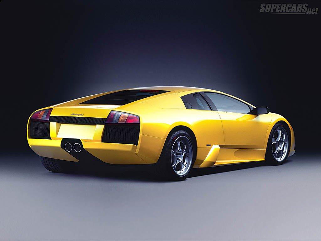 Rear view of 2001 Lamborghini Murcielago