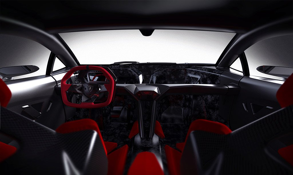 Lamborghini Sesto Elemento interior front view