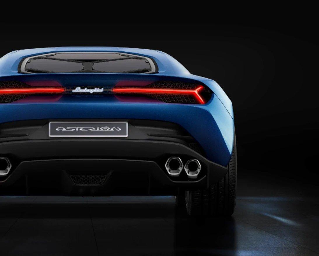 Rear view of Lamborghini Asterion