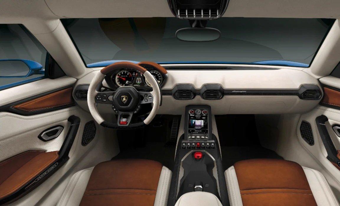 Interior of Lamborghini Asterion